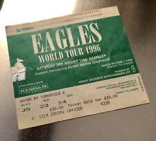 Eagles Ticket Stub - World Tour - Wembley 3rd August 1996