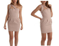 """Preen """"Zoe"""" Nude Band  Cut out Bodycon Dress Size M NWT $360"""