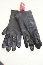 Paire de gants noire en cuir neuf taille 8 de marque DENTS 1777