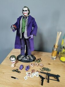 1/6 Custom Joker, Batman 1/6 Heath Ledger loads of accessories 2 head sculpts