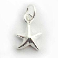 Breloque étoile solide argent sterling 925