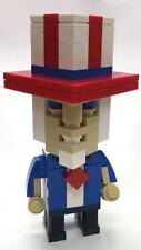 CubeVille Uncle Sam Parts & Instructions Kit Genuine LEGO™ Pieces - 4th of July