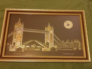 Tower Bridge by John Ammon. Horological art. Made with old watch parts.1982