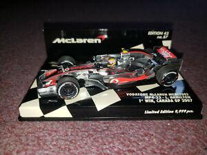 Minichamps 1:43 Lewis Hamilton McLaren Mercedes 2007 1st Win  530074322