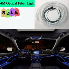 Auto Car Blue LED Interior Ambient Light Decor Atmosphere Optical Fiber Lamp 4