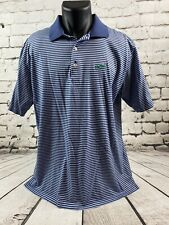 PETER MILLAR Men's Size Large Cotton Striped Short Sleeve Polo EUC