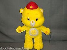 "BIG 2007 Nanco FUNSHINE BEAR Care Bears 15"" Toy Plush Stuffed Doll Figure w/Tags"
