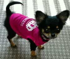 Chihuahua Puppy Size (XSmall) Dog Clothes Pink Princess With White Letters Top