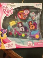 2009 My Little Pony Ponyville SCOOTALOO & SWEETIE BELLES TRICYCLE 2 PONIES NIB