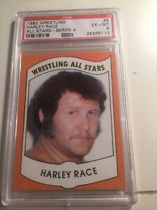 1982 Wrestling All Stars Harley Race # 8 PSA 6 EX/MT
