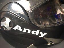 Aufkleber reflektierend Vorname Auswahl Helm Sicherheit Kind Rucksack Ski