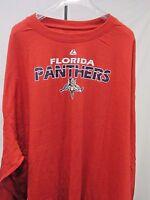 Florida Panthers Men's Big & Tall Majestic Long Sleeve Shirt NHL