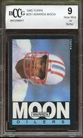 1985 Topps #251 Warren Moon Rookie Card BGS BCCG 9 Near Mint+