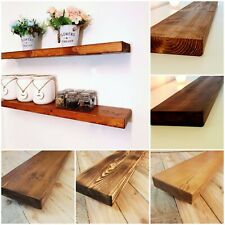 Rustic Floating Industrial Mantle Shelf Shelves includes Brackets Handmade In UK
