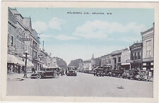 Delavan,Wisconsin,Walworth Ave.Old Cars,Drug Store,c.1918-30s