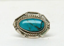 Sterling Silver Navajo Vintage Turquoise Ring