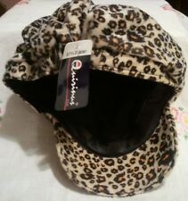 Faux Soft polyester Animal Print Beanie Cap by Quirinus, One Size Fits Most !!