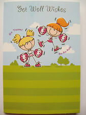 FANTASTIC COLOURFUL CHEER LEADERS GET WELL WISHES GET WELL GREETING CARD