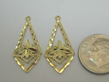 Dangle Earring Jackets S108 Solid 14k Yellow Gold