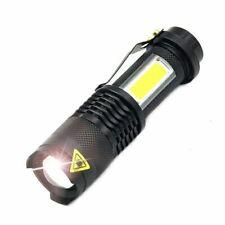 3800 lumen BRIGHT COB LED Flashlight Portable Mini ZOOM torch flashlight