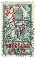 (I.B) Edward VII Revenue : Consular Service 10/-