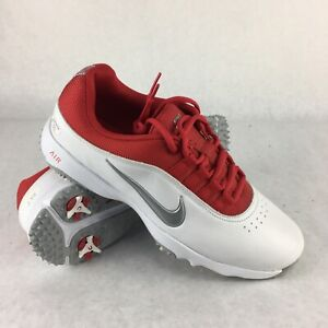 Nike Air Rival 4 Golf Shoes White/Red 818729-101 size 7 - very rare