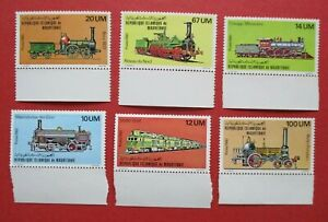 SG679-684 1980 Mauritania Set Railroad Train Railway Transport Interest MNH