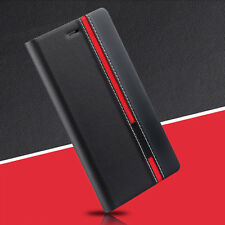 Black Luxury Flip Cover Stand Wallet PU Leather Case For ALL Mobile Phones