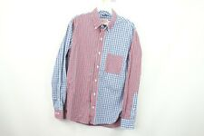 Brooks Brothers Mens XS Color Block Plaid Long Sleeve Casual Dress Shirt
