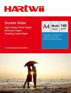 A4 140Gsm Double Sided High Glossy Photo Paper Inkjet Paper Prinitng Hartwii AU