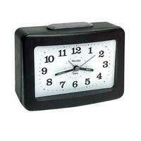 Westclox Analog Quartz Loud Bell Black Alarm Clock 47550