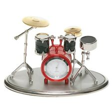 Red and Silver Colour Drum Kit Miniature Clock