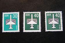 DDR, 1982,Luftpost (2x postfrisch, 1x gestempelt)