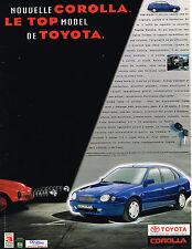 PUBLICITE ADVERTISING 124  1998  TOYOTA   COROLLA  le TOP MODEL