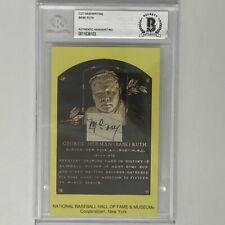 """Autographed/Signed BABE RUTH """"Money"""" Authentic Handwriting HOF Postcard BAS COA"""