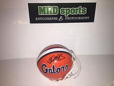 Jarrad Davis Marcus Maye Florida Gators Hand Signed Mini Football Helmet b