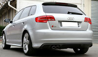 AUDI A3 8P SPORTBACK S3 LOOK REAR BUMPER SPOILER / SKIRT / VALANCE / DIFFUSER