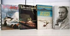 4 Books By Sir David Attenborough Life on Earth The Trials Living Planet WH284