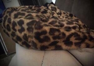Womens Vintage Leopard Fur Beret Union Made
