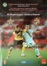 Programm 2015/16 FC Sheriff Tiraspol - FC Dacia Chisinau