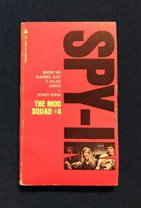 TV Tie-in pb MOD SQUAD #4: SPY-IN (Pyramid #X1986 1st, 1969) Richard Deming