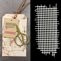 Mesh Background Metal Cutting Dies Stencil Scrapbooking Embossing Craft Mold x1