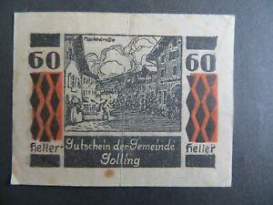 Austria Notgeld GOLLING Sbg. Gemeinde, 60 Heller 1920 Note