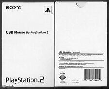 Sony Ufficiale PS2 USB Mouse COMITATO Fitosanitario permanente 10230 EL, & Nuovo di zecca in scatola