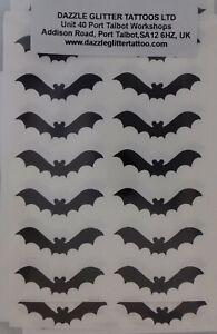 30 x black bat stickers - great fun for small children  boys girls Halloween