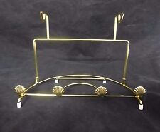 Bard's Brass Double Saucer & Plate Stand, Decorated with Scalloped Shells