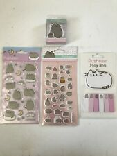 Official Pusheen Stationery Bundle - Stickers, Eraser, Sticky Notes - New