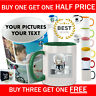 Personalised Mug Cup ANY Photos Text Pictures Fathers Day Gift Birthday Coffee