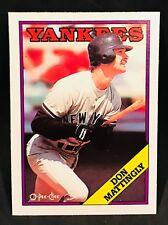 1988 OPC O-PEE-CHEE BASEBALL DON MATTINGLY CARD #300 NEW YORK YANKEE NMT/MT-MINT