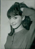Smiling portrait of Anna Karina. - 8x10 photo